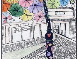 Marija Mladenović, Srednja škola, Grdelica, Leskovac. U sklopu Agitagueda art festivala, svakog jula na ulicama Aguera u Portugaliji, stotine raznobojnih kišobrana postavljenih iznad šetališta daje živost i boju ulicama i štiti šetače od vrućine.