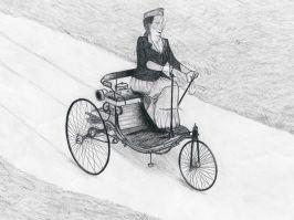 Miloš Bursać, Tehnička škola, Vranje. Berta Benz je 5. avgusta 1888. godine automobilom prešla udaljenost od oko 106 kilometara i time postala prva osoba koja je vozila automobil na duže staze.