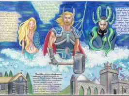 """Davor Filipović, Tehnička škola """"Nikola Tesla"""", Surdulica. Moćni Tor, nordijsko božanstvo, gospodar oluje i munje, oduvek smatran simbolom jačine i moći."""
