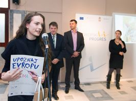 Sofija Jelić from Nova Varoš won the first prize within the art competition for European PROGRES calendar 2015